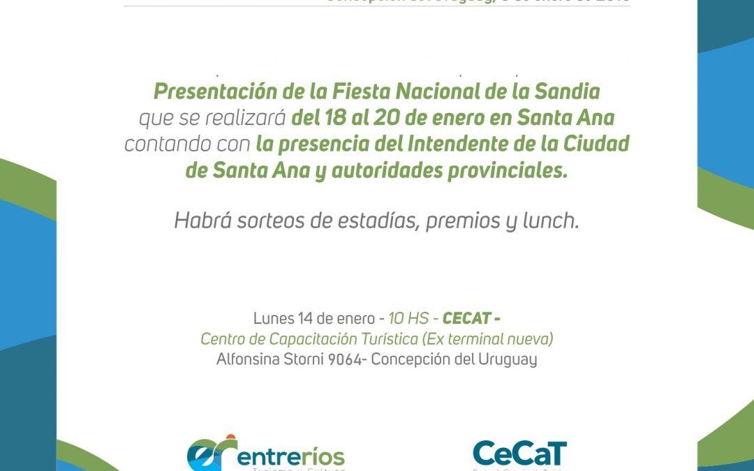 Presentación en el CeCaT de la Fiesta Nacional de la Sandía