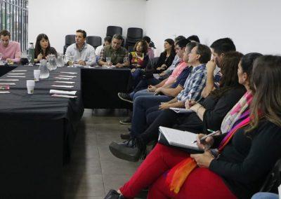 Carolina Gaillard junto con su equipo en reunión con el Sector privado del Turismo