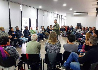 El actori y director, Gustavo Garzon, dictando Seminario de actuación