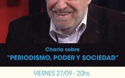 """Miguel Bonasso disertó en el #Cecat con la charla """"Periodismo, Poder y Sociedad"""""""